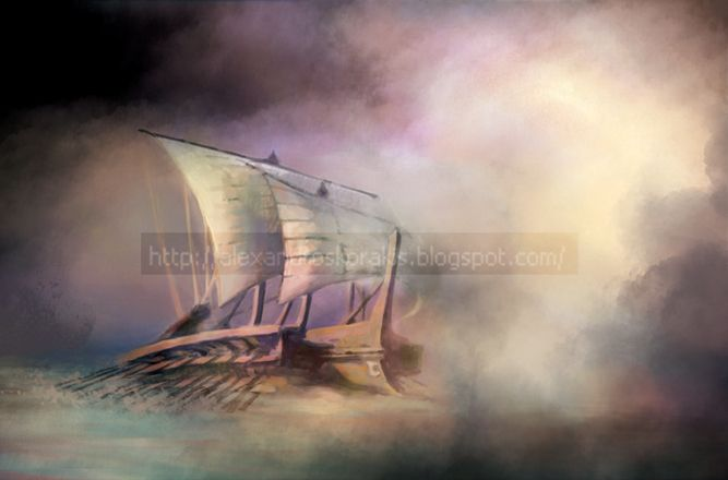 trireme by alexkorakis on DeviantArt