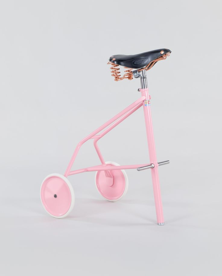 The Twonky - a powder-coated steel framed bike stool with Brooks® B67 leather saddle with copper springs.