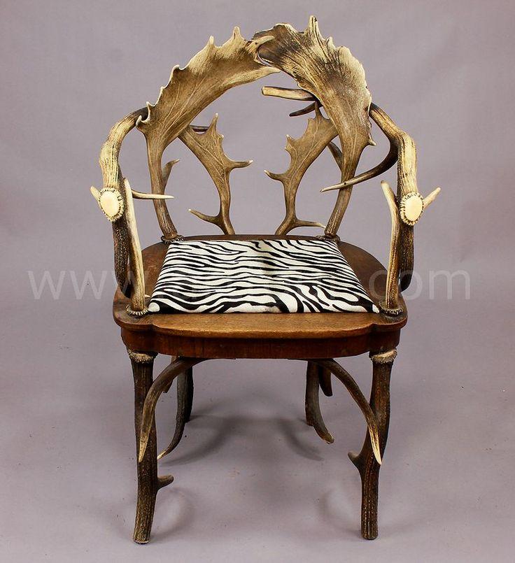 Antique Black Forest Antler Chair Ca. 1900
