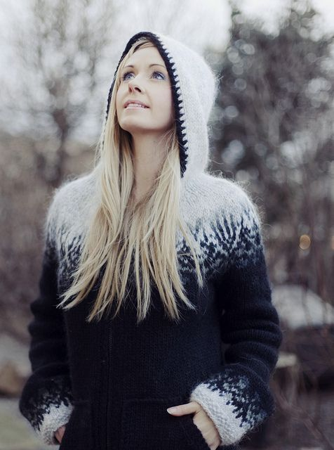 Rebekka's sweaters are handmade from 100% Icelandic Wool. One day, I will be able to afford one!