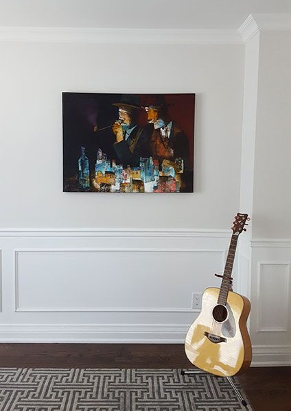 Original artwork by Peter Panov from Crescent Hill Gallery in a client's home