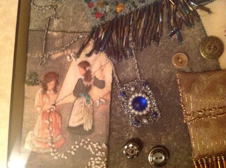 Close up of purse collage