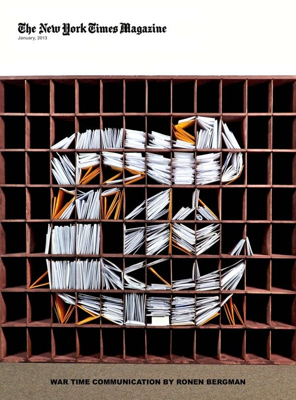 'The New York Times' Logo Created With Carefully Arranged Stacks Of Mail - DesignTAXI.com