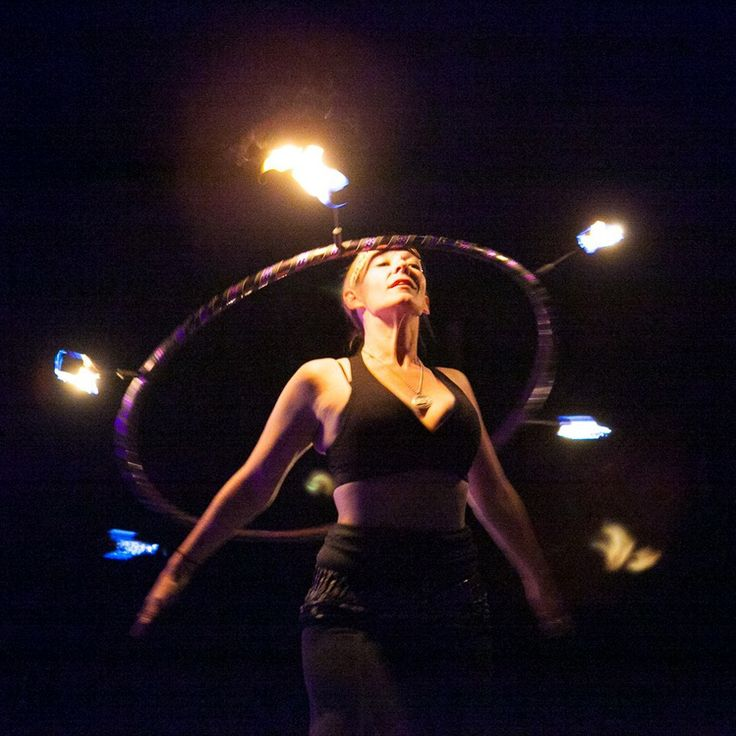 Head Fire Hooping with Kate O'Brien Eychis