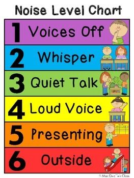 Voice level chart - cute illustrated and color-coded voice level chart to help keep your classroom noise level in check that lets children always know which voice to use.This download includes 1 clip chart but several very slight varieties of it to meet your needs.