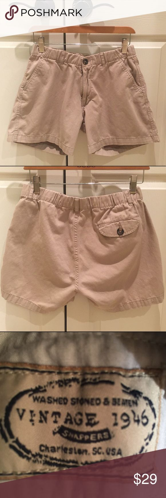 Men's khaki shorts size small Men's khaki shorts size small. In excellent condition. washed stoned & beaten Shorts
