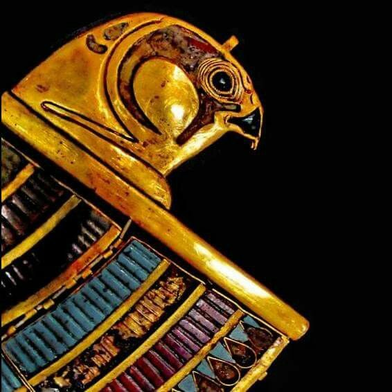 Detail of a collar found in the Tomb of Tutankhamun.