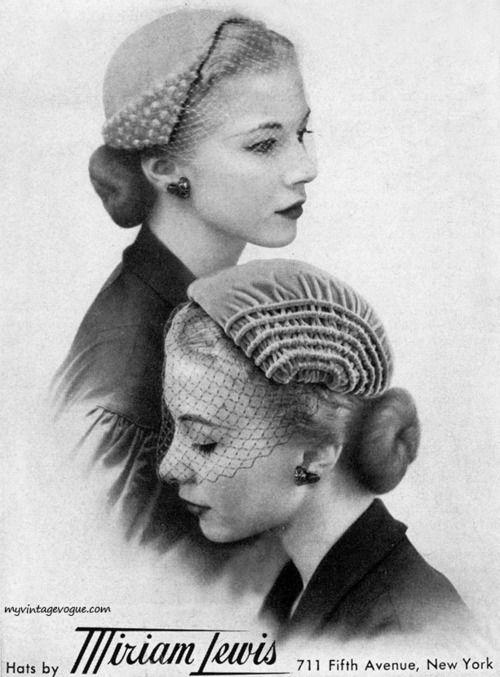 Miriam Lewis hats, 1951.