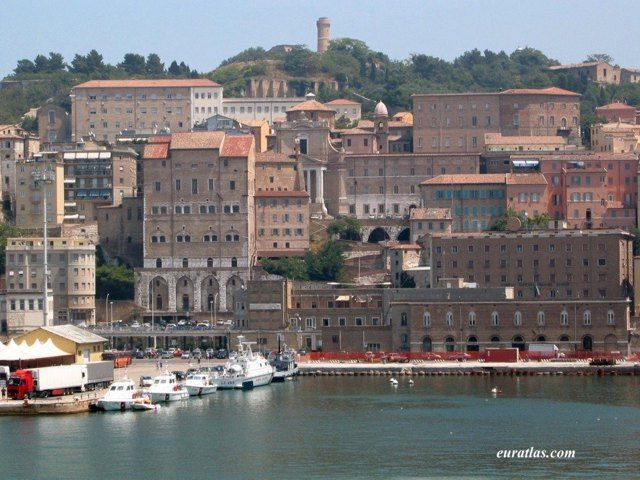 Ancona. Italy. A welcome sight after a long night on a ferry from Split, Croatia.