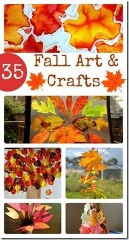 35 Fun Fall Crafts for Kids - So many really clever, fun fall activities for kids in preschool, kindergarten, 1st grade, 2nd grade, 3rd grade, and more. I love all the fun fall leaf projects especially.
