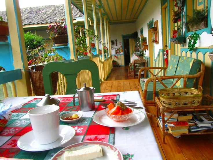 B&Bs don't get better than this one. La Posada del Cafe in Salento, Colombia.
