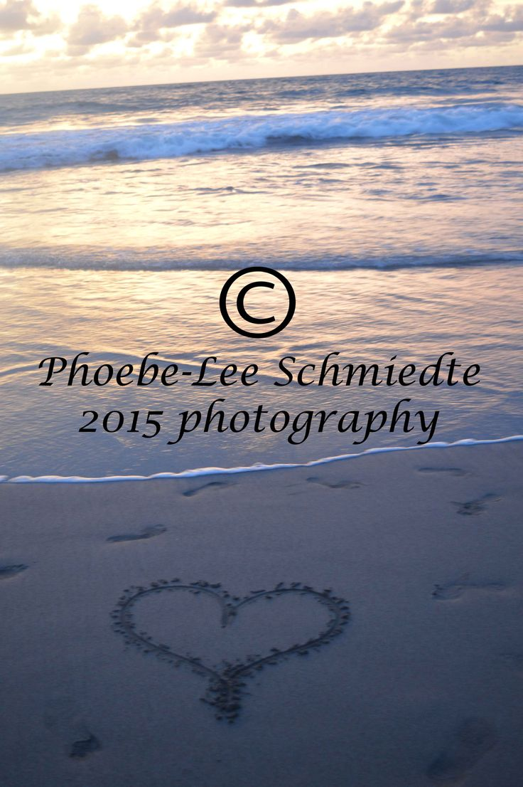 love heart draw in the sands on the beach in bali, 2014
