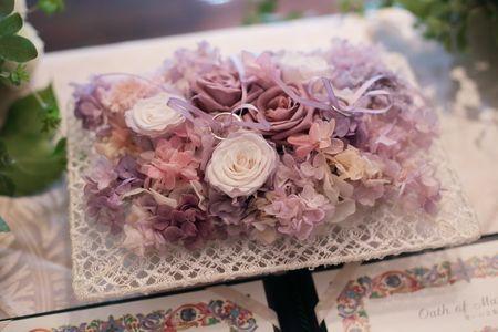 秋の装花 親族だけのご結婚式 シェ松尾松濤レストラン様への画像:一会 ウエディングの花