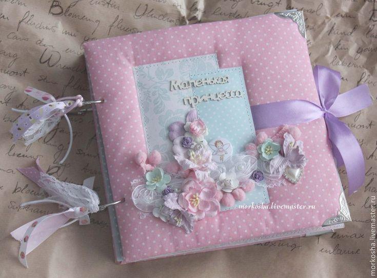 """Купить Фотоальбом """"Маленькая принцесса"""" (миниальбом) - розовый, фотоальбом, фотоальбом ручной работы, миниальбом"""