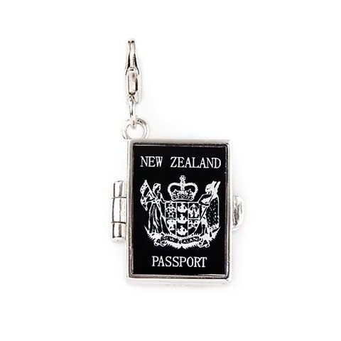 NZ Passport Solid Silver Charm By ZALA | Shop New Zealand