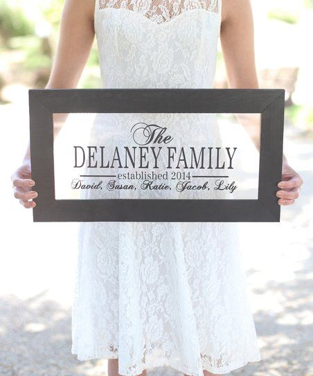 This wall sign will sweeten your space with a personalized design in an elegant font set against a transparent backdrop. Shipping note: This item will be personalized just for you. Allow extra time for your special find to ship.