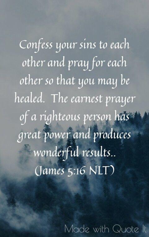 Vulnerability - James 5:16 NLT