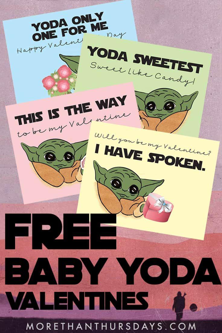 Free Baby Yoda Valentine Printable Starwars Themandalorian Valentinesday Babyyoda Thechild Yoda Valentine Cards Free Baby Stuff Star Wars Valentines