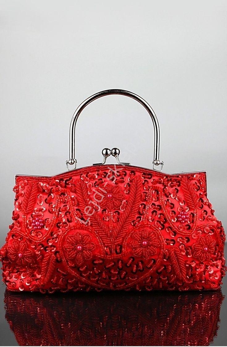 hand made retro, vintage red bag