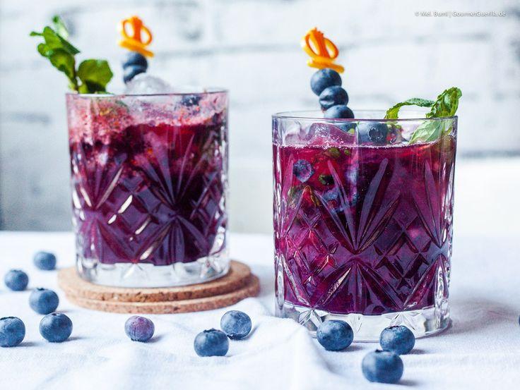 {Low Carb}Virgin Blaubeer Aronia Mojito. Ein gesunder Mocktail ohne Alkohol.