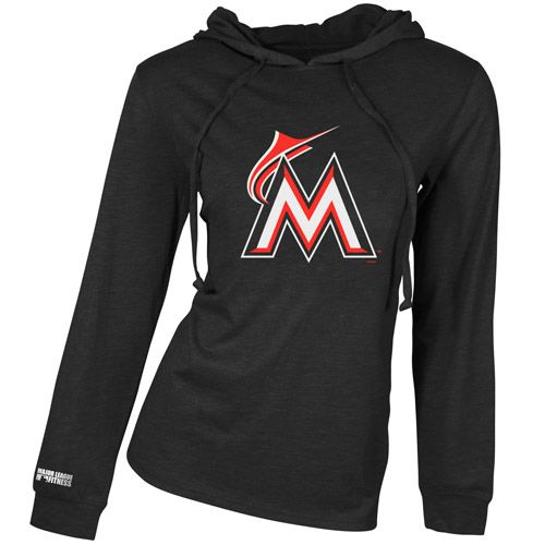 Miami Marlins Centennial Triblend Long Sleeve Hooded Top by Concepts SportHoods Tops, Oakland Athletic, Athletic Centennial, Concept Sports, Triblend Long, Long Sleeve, Sleeve Hoods, Mlb Com Shops, Centennial Triblend