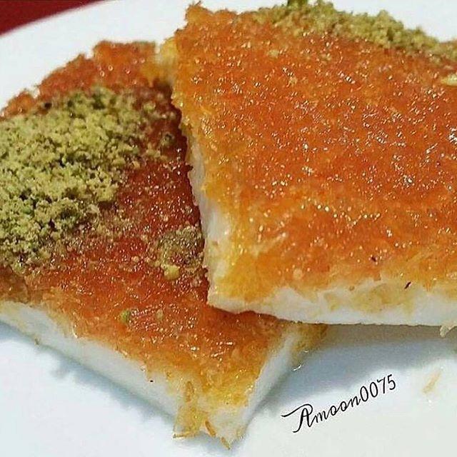طريقة عمل كنافة بالقشطة Knafeh With Cream Food Pretty Food Arabic Food