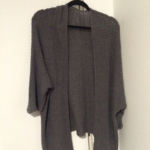 Brandy Melville Cardigan! Grey Brandy cardigan! super warm and only worn once! No damages! comes with 2-3 Brandy Melville stickers Brandy Melville Sweaters Cardigans