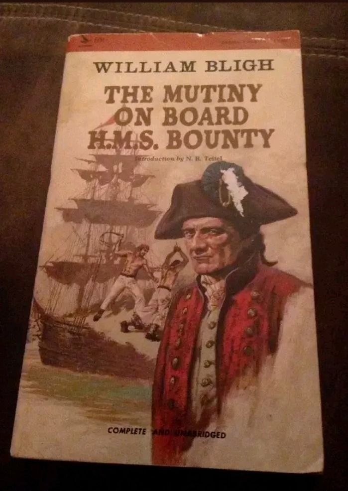 Vintage The Mutiny On Board H.M.S. Bounty By William Bligh Airmont Books