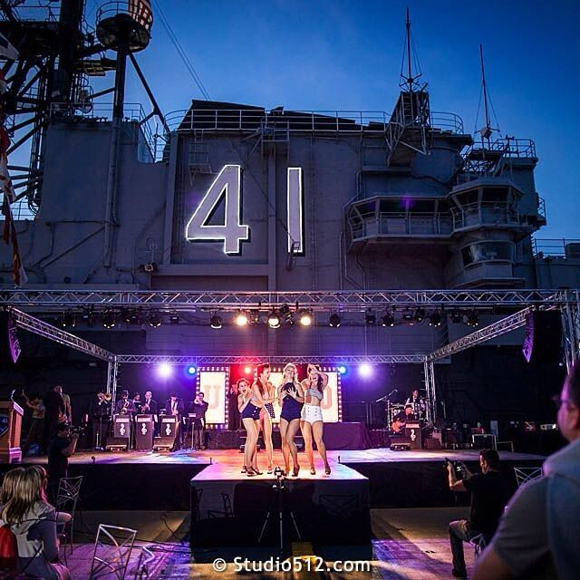USO Magic on the USS Midway . . . . . #PhotoOfTheDay #USO #EventPhotography #AudioVisual #Museum #Sailors #PinUpGirls #Dancers #41 #PerformanceArt #Performer #Performance #Ahoy #EventDesign #EventPhotography #CorporateEvents #CorporateEvent #EventCatering #Hospitality #SailorGirls #CommercialPhotography #EventLighting #Reception #Party #EventVenue #StagePerformers #MusicalTheater #StageLighting #USSMidway #Midway