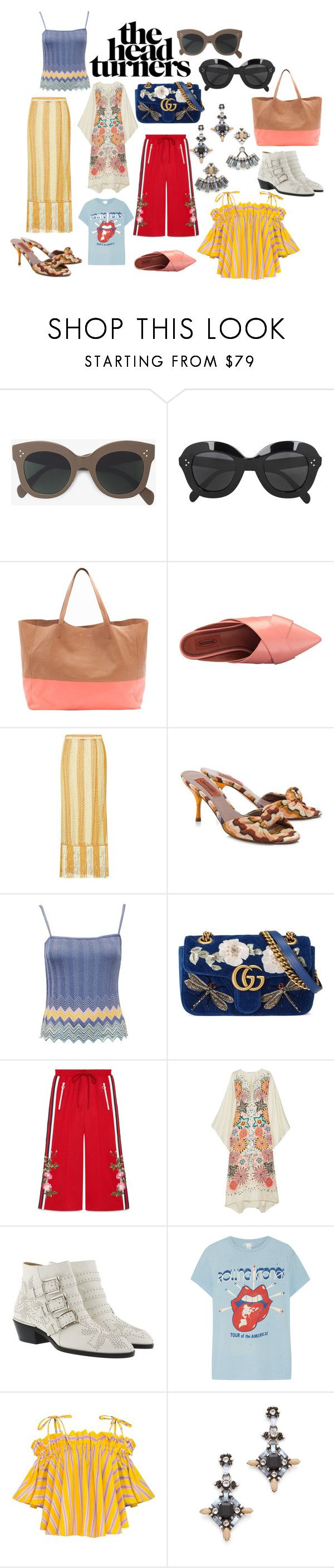 The Head Turners by hatz7 on Polyvore featuring Missoni, MadeWorn, Missoni Mare, Gucci, Chloé, CÉLINE and DANNIJO