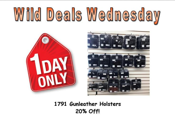 Wild Deals Wednesday - 1 Day Only - 1791 Gunleather Holsters 20% Off !  #1791gunleather - http://www.gungrove.com/wild-deals-wednesday-1-day-only-1791-gunleather-holsters-20-off-1791gunleather/