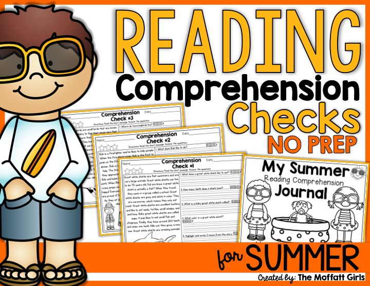 Avoid The Summer Slide Syndrome NO PREP READING COMPREHENSION Passages Stories For SUMMER Includes 40 Simple A Mix Of Fiction And Non