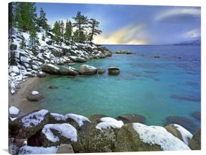"Hidden Beach and Memorial Point. Buy Feng Shui horizontal fine art photo Hidden Beach and Memorial Point, Lake Tahoe, Nevada by Tim Fitzharris, which is available for sale in our water art photos collection. This positive energy ready-to-hang stretched giclee, 35"" x 28"" x 1.5"", is printed on high quality artist grade canvas with a gallery wrap finish- with the image mirrored onto the sides. Enjoy free shipping within the continental U.S. We will ship this Feng Shui painting in …"