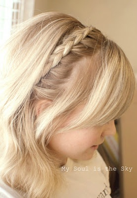 How to cut your own bangs. Pretty awesome. She's so cute. Lots of braid hair tutorial videos