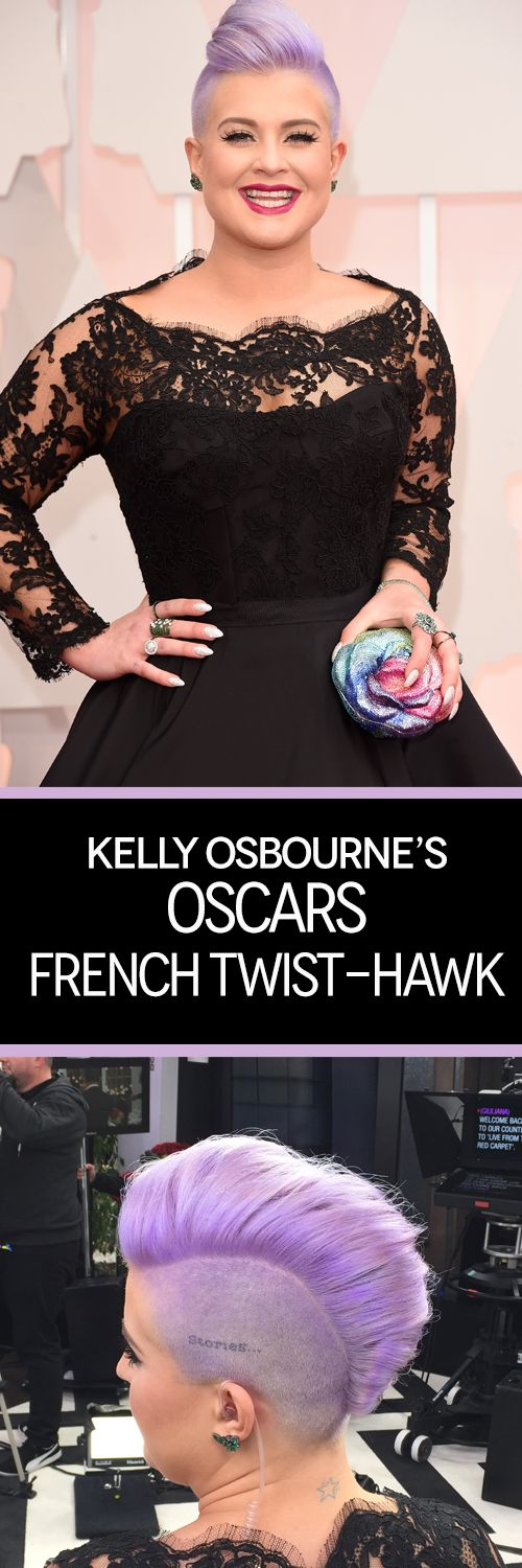 Kelly used #PARLORbyJeffChastain to get this edgy, purple hairstyle—and you can too! #Oscars