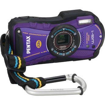 Pentax Optio WG-1 Digital Camera (Purple) Water/Shock/Crush/Cold and Dust Proof