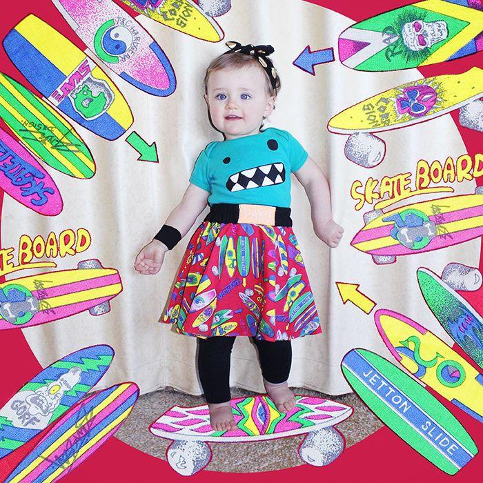 Nova Vogue Collection | 12 -15 Months | Later Skater #babyfashion #vintage #retro #skateboard #80s #1980s #80's #1980's #toddler #blog #opshop #thrifted #handmedowns #skater