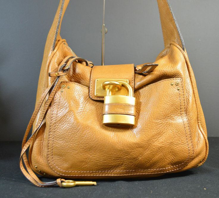 Chloe Camel Leather Paddington Hobo Bag