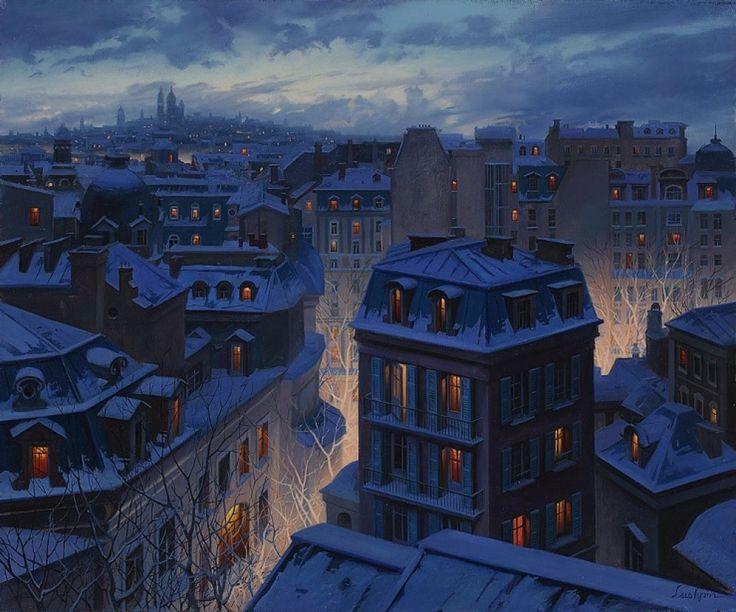 Художник нарисовал зиму такой уютной, что хочется ееобнять
