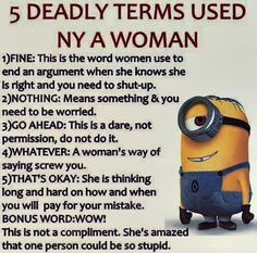 5 Deadly Terms Used By a Woman
