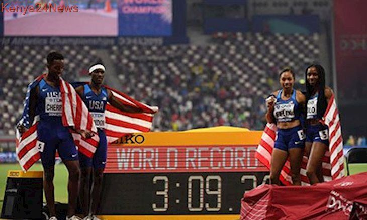 Felix Adds To Gold Haul As Us Win Mixed Relay Gold Track And Field Athlete Relay Allyson Felix