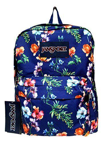 Jansport Superbreak Backpack! (Multi Navy Mountain Meadow)
