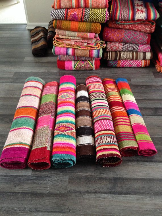 Frazada Runners / Rugs / Colorful Blankets from by elhummingbird