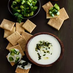 Creamy Whipped Feta Dip Recipe with Mint Parsley Pesto and Cucumbers ...