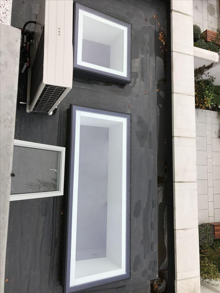 Flushglaze rooflights external view
