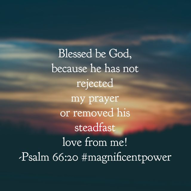 """This morning I finished reading Psalm 66 as today's portion of the #magnificentpower #biblereadingplan . David is declaring the power of his God. The power that saved him from his enemies. The power that carried the nation of Israel in his time. The power that still works in our lives today. He says in the verses before this one posted: If I had cherished iniquity in my heart, the Lord would not have listened. But truly God has listened; he has attended to the voice of my prayer."""" I believe…"""
