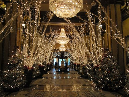 Christmas at the Roosevelt Hotel in New Orleans - What a great time to get married there with ...
