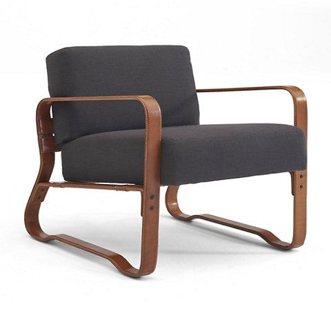 Cliff House Leather-Wrapped Lounge Chair - Saddle - Chairs / Ottomans - Furniture - Products - Ralph Lauren Home - RalphLaurenHome.com