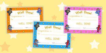 Superhero Certificates - superheroes, certificates, award, reward