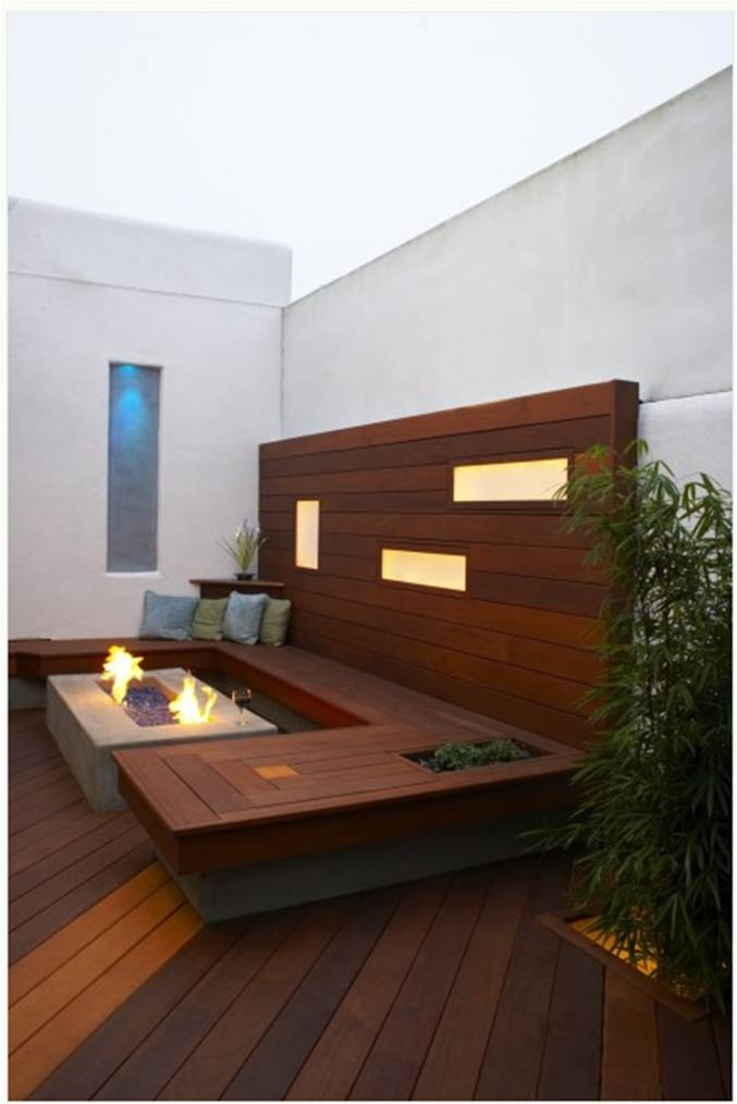 Outdoor Space,like the fence with light cut outs